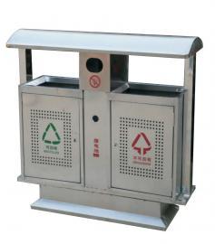 分类垃圾桶厂家-园林户外垃圾桶制造商-不锈钢三分类垃圾桶
