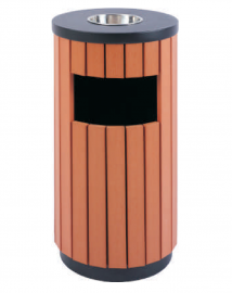 木条垃圾桶-户外钢木果皮箱-景区环卫垃圾桶制造
