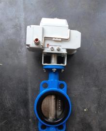 瑞诺D971J-10C DN65衬胶电动对夹蝶阀