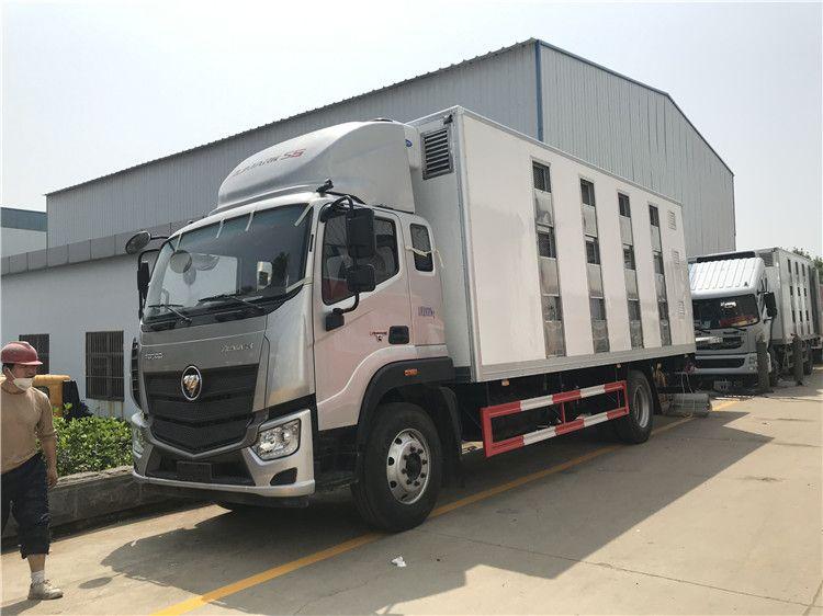 7米7.7米大猪运输车 7米6猪苗运输车图片