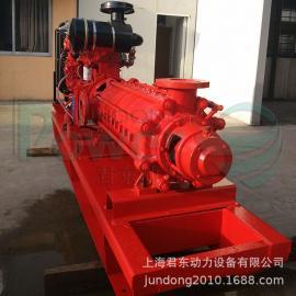 远程输水高压柴油机水泵机组/200米高扬程柴油机水泵/多级离心泵