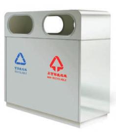 景区分类果皮箱-小区环卫垃圾桶-居民分类垃圾桶