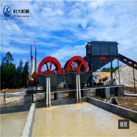 处理量大的洗沙设备 水轮斗洗砂机 海沙淡化机械