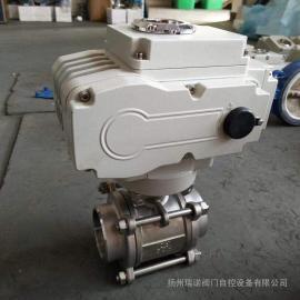 瑞诺不锈钢Q911F-16P DN40内螺纹电动球阀