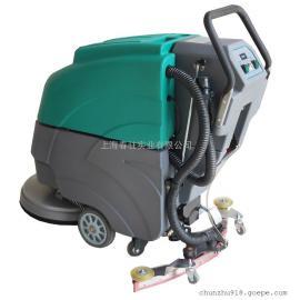 手推式全自动洗地机超市用电瓶洗地机移动式工业用刷地机LC19A