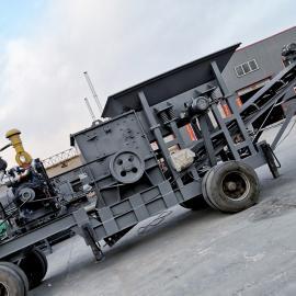 佳辉1215型移动式破碎机 碎石机 建筑垃圾制砂机