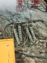 矿山岩石破碎劈裂器低成本破石头机械愚公斧劈裂棒