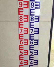 定制不锈钢陶瓷水尺水位尺水位标尺流量标尺