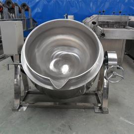 定做翻转式自动出料炒锅蒸汽天然气燃气加热自动搅拌夹层锅