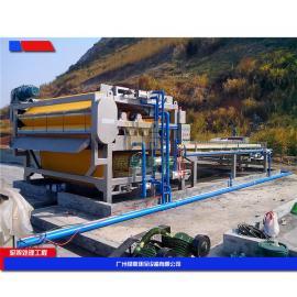 口碑好的泥浆带式压滤机 机制砂污泥脱水机