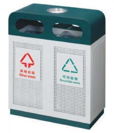园林分类垃圾桶-小区物业果皮箱定制-校园分类垃圾桶