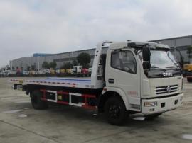 东风大多利卡D8黄牌6米多平板清障车报价低一拖二款救援拖车