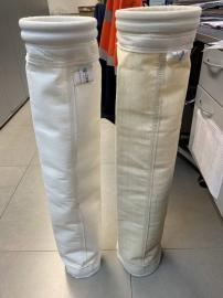 PPS+PTFE覆膜除尘布 石墨玻纤高温无碱布袋中碱除尘布袋