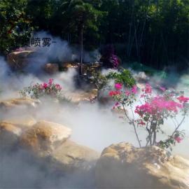 公园水系造景喷雾设备 水榭平台雾森喷雾主机人造雾系统