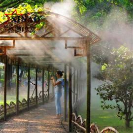 别墅庭院冷雾造景设备 小区花园人造雾喷雾设备机