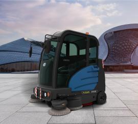 容恩驾驶式电动扫地车 工厂水泥地面清扫灰尘树叶用清扫车