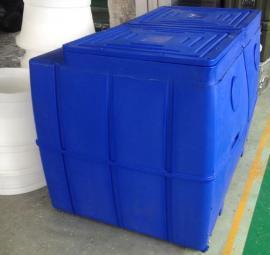 *滚塑定制加工锥底加药箱 锥底加药箱带搅拌机 锥底加药箱