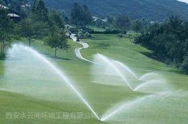 厂区草地喷淋,城市绿化节水喷灌智能灌溉系统给