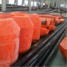 环海生产定制圆柱体孔径220mm管道浮筒 水上抽淤泥塑料浮体
