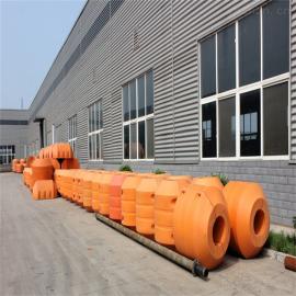 环海生产定制圆柱体孔径250mm管道浮筒 水上抽淤泥塑料浮体