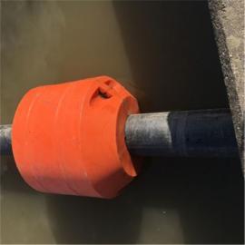 环海生产疏浚孔径250mm管道浮筒 水上抽淤泥塑料浮体