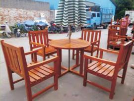 丹阳户外家具-实木桌椅