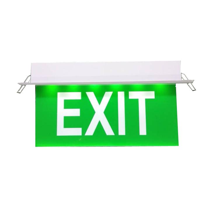 外贸出口应急灯安全出口指示灯牌嵌入式EXIT