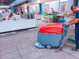 菜场保洁用地面清洗吸水机 农贸市场清洁机器