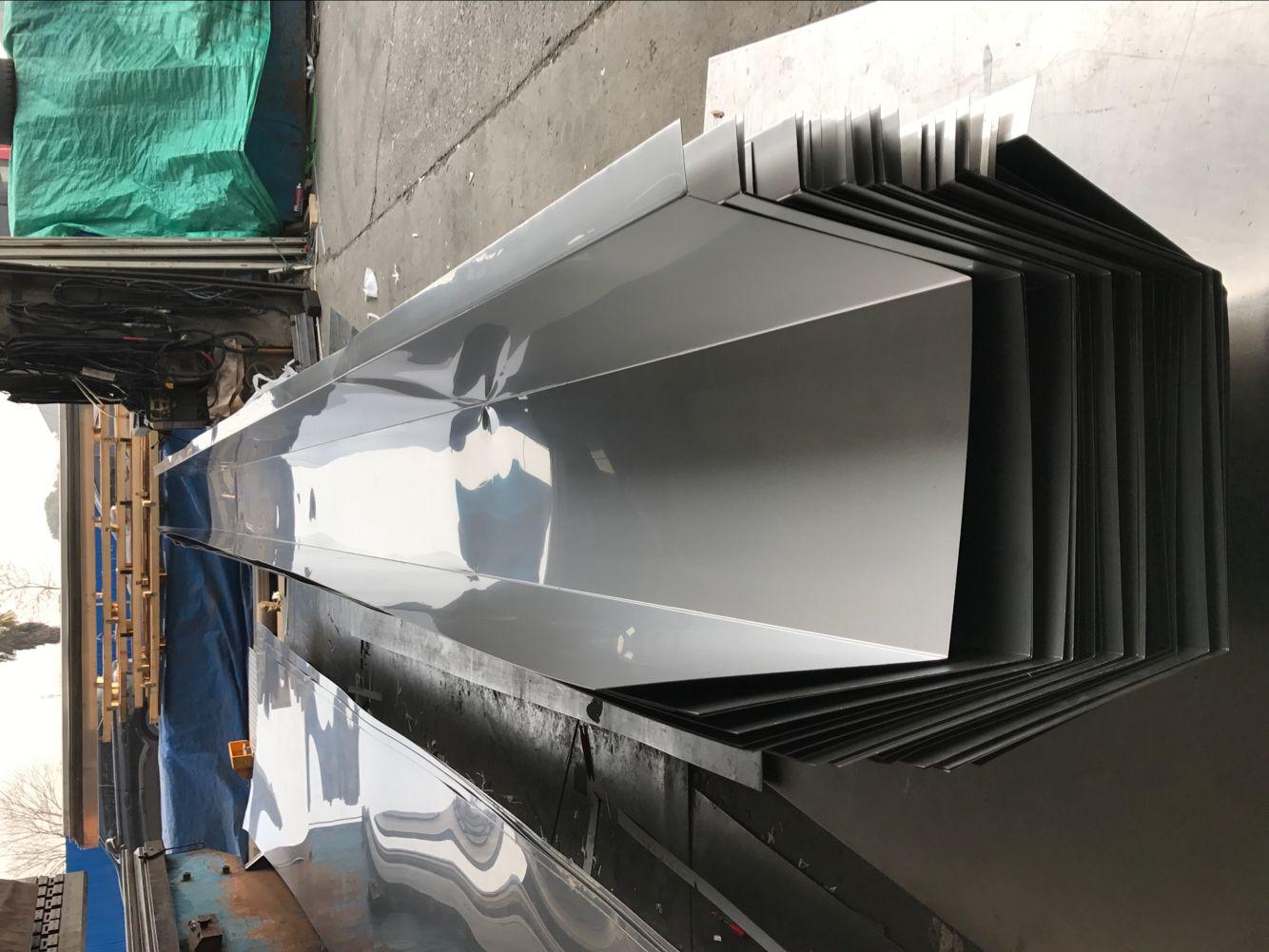 304不锈钢天沟水槽剪折加工制造