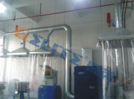 搅拌机 投料机 粉尘收集治理 脉冲式滤筒式工业除尘器集尘机