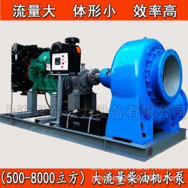 防洪抢险排涝泵/2500方灌溉养殖用柴油机水泵/柴油机混流泵
