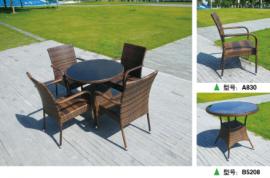 户外桌椅三五件套室外休闲椅子花园露台铁艺藤椅庭院阳台座椅