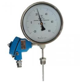 WSSP-411双金属温度计0~150℃带远传PT100