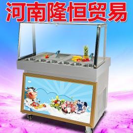 不锈钢炒酸奶机的报价,酸奶机生产公司,多功能炒酸奶机