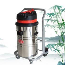 家具厂用吸木屑粉尘颗粒大型吸尘器80L不锈钢桶工业吸尘器