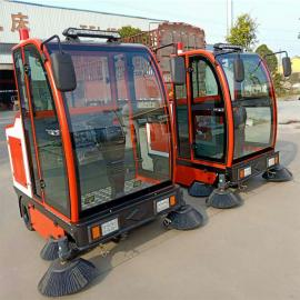 全封闭大型驾驶式灰尘落叶垃圾清扫车小区车库公园道路用扫地车