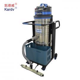 工厂吸粉尘铁屑用工业吸尘器|凯德威100L工业吸尘器DL-3010BX