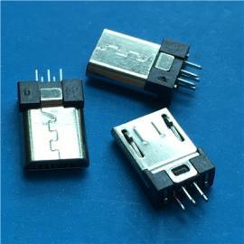 MICRO 5P�A板 V8公�^ 短�w5P公�^ �A板0.8 L=9.75mm 焊板式
