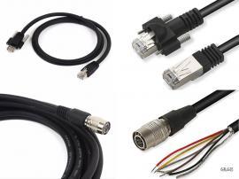 gige工业工业相机线缆 HR10A-7P-3P电源线数据触发线 6芯电源线