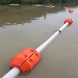水上夹管道提供两半片大浮力夹管道浮体装置