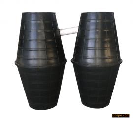 河北邢台塑料双瓮化粪池-塑料三格化粪池-冲水桶咨询