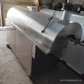 万明牌100斤型卧式电加热不锈钢炒货机