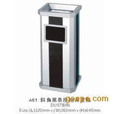 斜角黑条果皮箱 果皮箱 果皮桶 垃圾桶 不锈钢垃圾桶 垃圾箱 ...