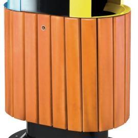 分类垃圾桶 果皮箱 垃圾箱 果皮桶 木条垃圾桶 公园垃圾桶