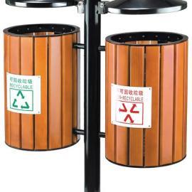分类木条垃圾桶 钢木垃圾桶 公园垃圾桶 垃圾箱 果皮箱 果皮桶