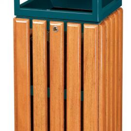 木条废物桶 钢木果皮箱 动物园废物桶 环保废物桶 果皮箱 垃圾箱...