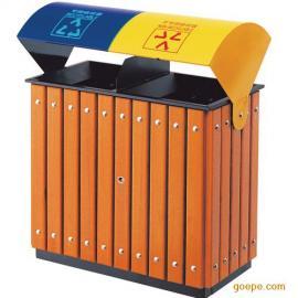户外木条垃圾桶 果皮箱 垃圾箱 果皮桶