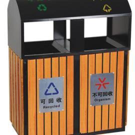 钢木垃圾桶 木条垃圾桶 果皮箱 垃圾箱 果皮桶