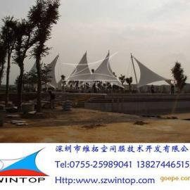 厂家低价直供青岛膜结构工程、景观工程