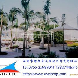 公园连廊膜结构工程设计安装